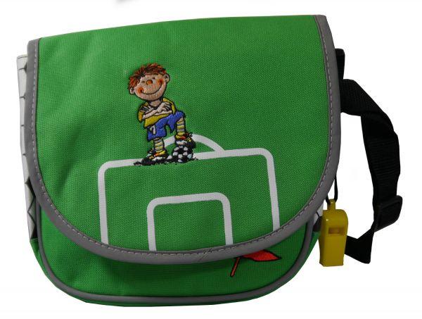 Lutz Mauder - Kindergartentasche Fußballer Fritz Flanke mit Trillerpfeife