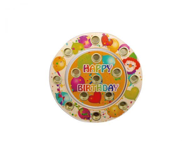 Hess bunter Geburtstagsring Happy Birthday aus Holz Ø 16cm