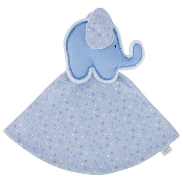 GOKI Kuscheltuch Elefant (blau), le petit 65136