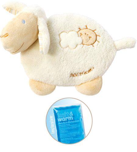 Fehn BabyLOVE Autsch-Kissen Schaf inklusive Kalt-/Warm-Kompresse
