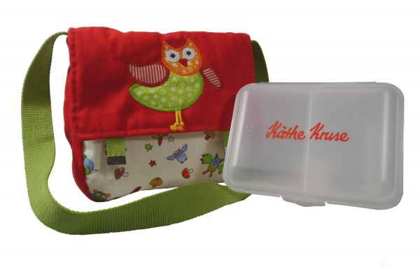 Käthe Kruse - Kindergartentasche Eule Alba mit Brotzeitdose
