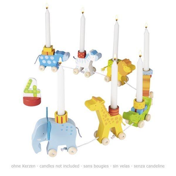 goki Geburtstagskarawane mit Tieren 13tlg. aus Holz