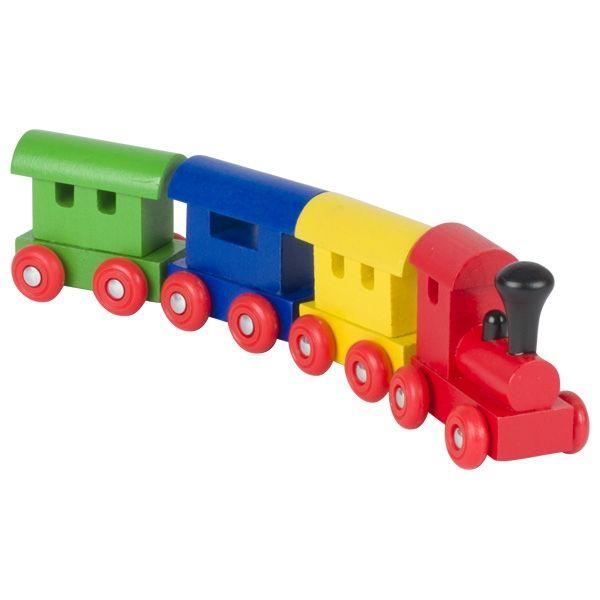 Goki Zug Helsinki mit Magnetkupplung 4tlg. aus Holz 55998