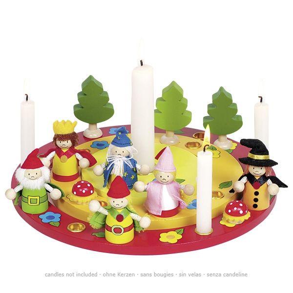 goki Geburtstagskranz 14tlg. mit Figurenset aus Holz 60993