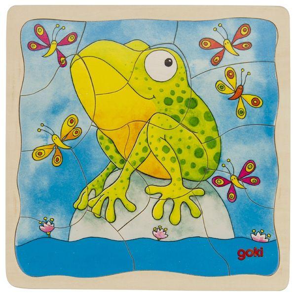 Goki Schichtenpuzzle Der Frosch 44tlg