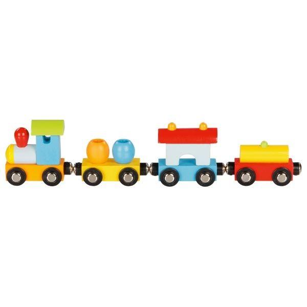 Goki Zug Mailand mit Magnetkupplung 4tlg. aus Holz