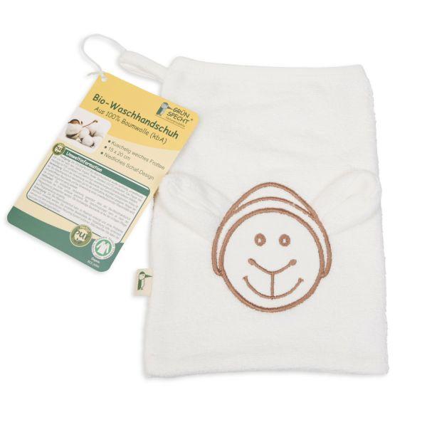 Grünspecht Bio- Waschhandschuh Schaf