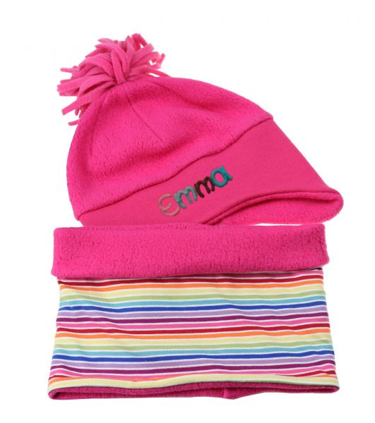 winterset-muetze-schal-fleece-pink-maedchen-mit-name