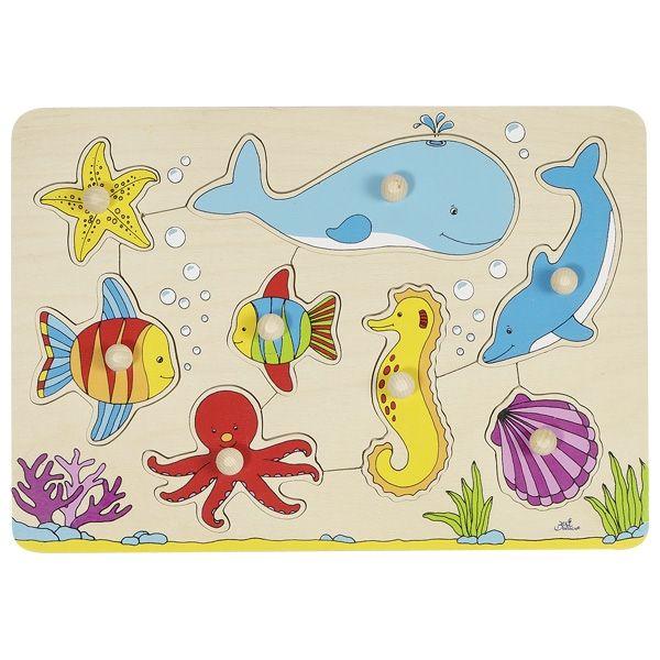 Goki Steckpuzzle Unterwasserwelt 8tlg