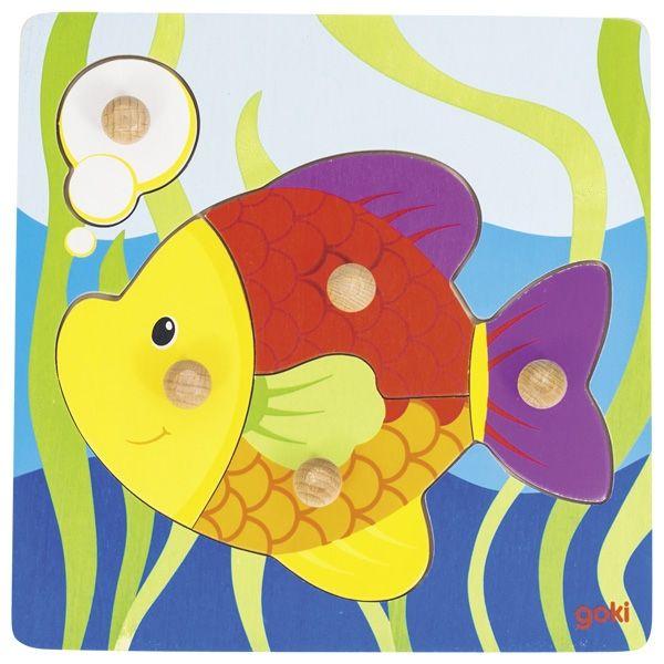 Goki Steckpuzzle Fisch 5tlg