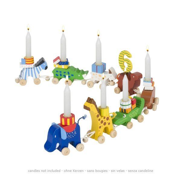 goki Geburtstagskarawane mit Tieren 14tlg. aus Holz GK108 bei www.baby-schaetze.de
