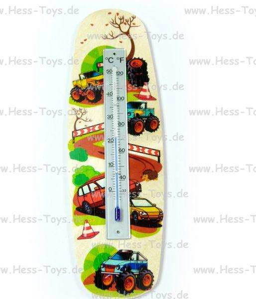 Hess Thermometer Monstertruck aus Birkenleimholz