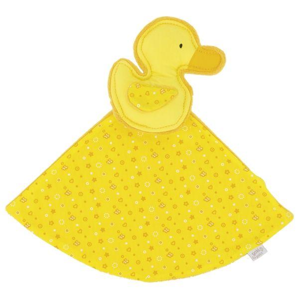 GOKI Kuscheltuch Ente (gelb), le petit 65138