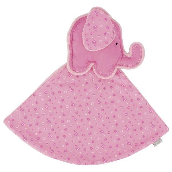 GOKI Kuscheltuch Elefant (rosa), le petit 65137