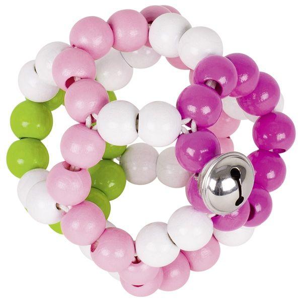 Heimess Greifling Elastikball rosa mit Glöckchen 764390
