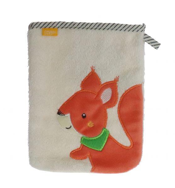 Fehn Sunshine Waschhandschuh Eichhörnchen