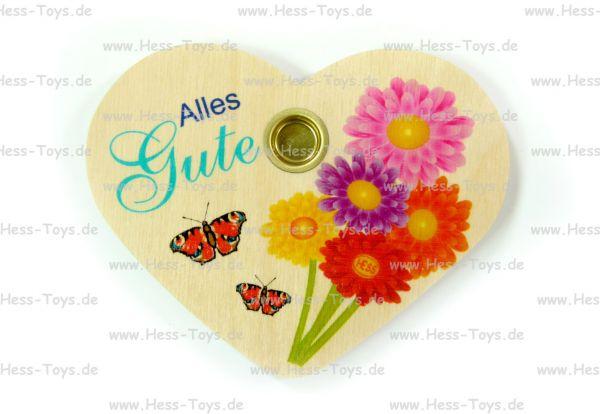 """Hess Geburtstagsherz """"Alles Gute"""" aus Holz"""