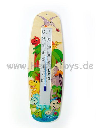 Hess Thermometer Dinosaurier aus Birkenleimholz