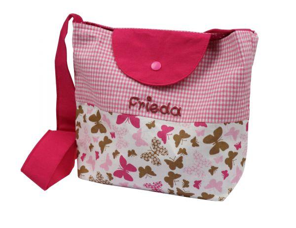 Kindergartentasche Schmetterling mit Namen - Umhängetaschen für Mädchen