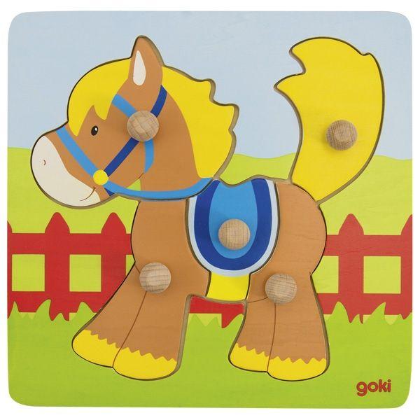 Goki Steckpuzzle Pferd 5tlg