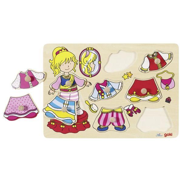 Goki Steckpuzzle Prinzessin 8tlg. aus Holz
