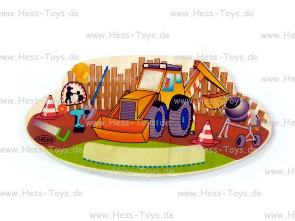 Hess Türschild Baustelle aus Birkenleimholz
