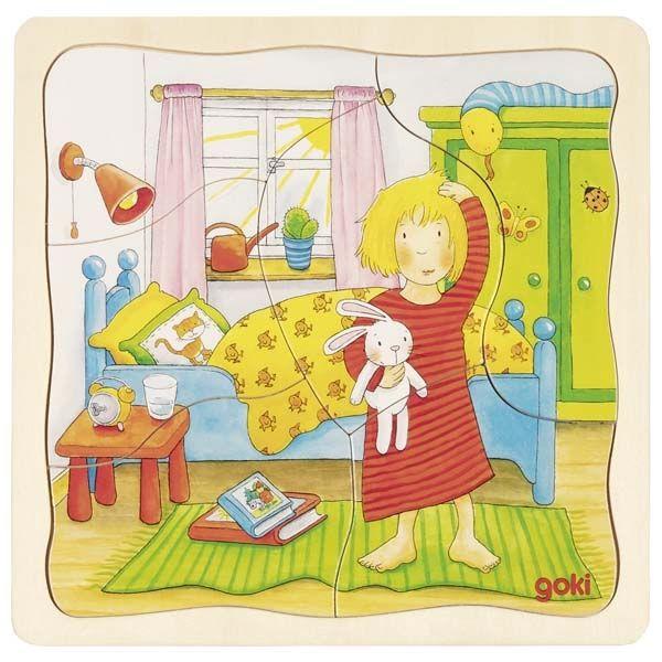 Goki Schichtenpuzzle Mein Tag 20tlg / 57424