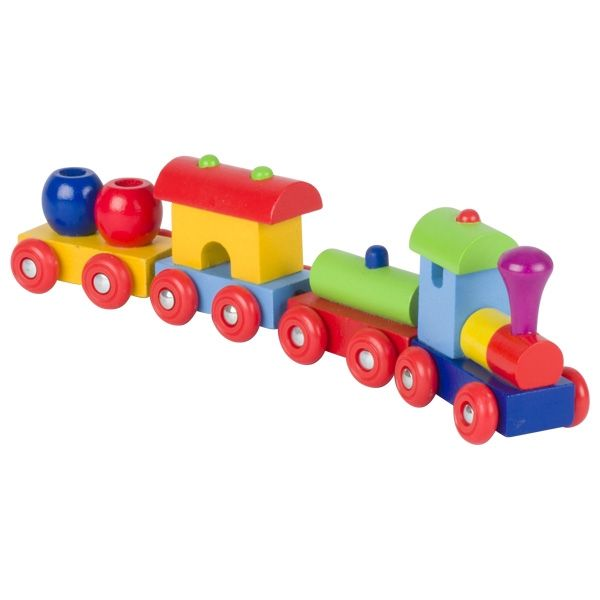 Goki Zug Peru mit Magnetkupplung 4tlg. aus Holz