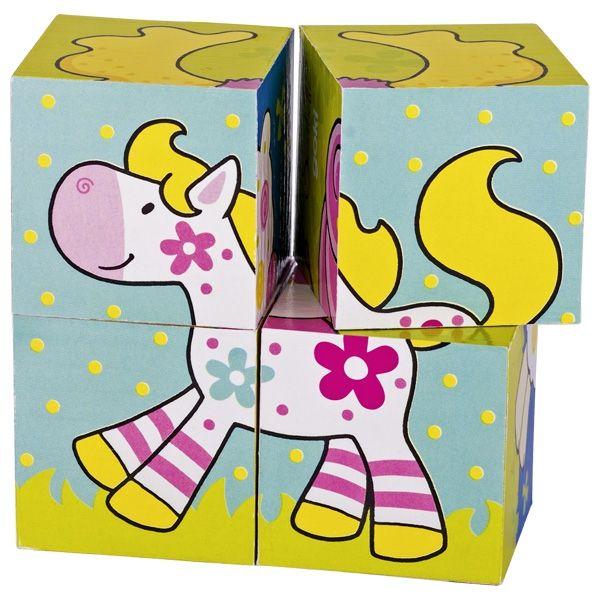 Goki Susibelle Würfelpuzzle 4tlg. Meine Freunde aus Holz