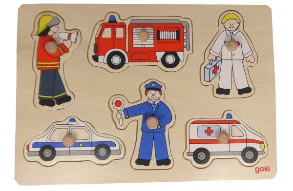 Goki Steckpuzzle Rettungsfahrzeuge