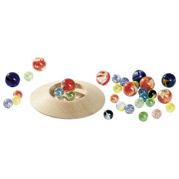 goki Murmeltellerspiel mit 31 Murmeln