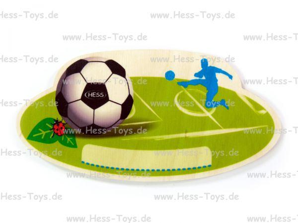 Hess Türschild Fussball aus Birkenleimholz
