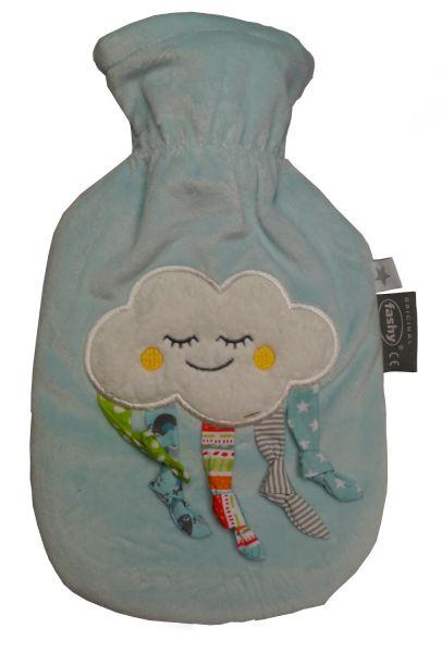 fashy little star Wärmflasche Wolke blau 0,8l für Kinder